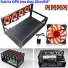 6 GPU Mining Rig Aluminum Case 4 Fans Open Air Frame For ETH ZEC Bitcoin GPU