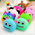 Hot 3D kawaii Cute Cartoon Animal Silicone Coin Purse Wallets Rubber Purse Bags  coin case kids wallet fashion girls bag