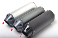New 28mm 38mm Black Silver Universal Motocross Motorcycle Exhaust Muffler Tip Pipe For 125 150 160cc