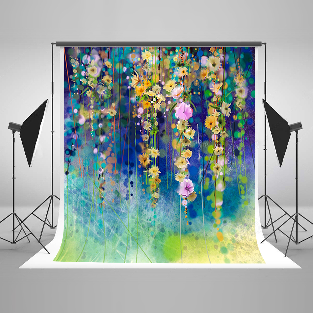 Valentine's Day Photography Backdrops Hanging Flowers Party Photo Background White Highlights Vinyl Backdrops for Photography
