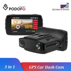 Podofo 3 in 1 Car DVR Camear Radar Detector GPS Ambarella Car-detector LDWS HD 1080P Recorder Registrar Anti Radar Dashcam WDR