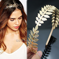 Roman Goddess Leaf Branch Dainty Hair Crown Head Dress Boho Alice Band Bridal Jewelry