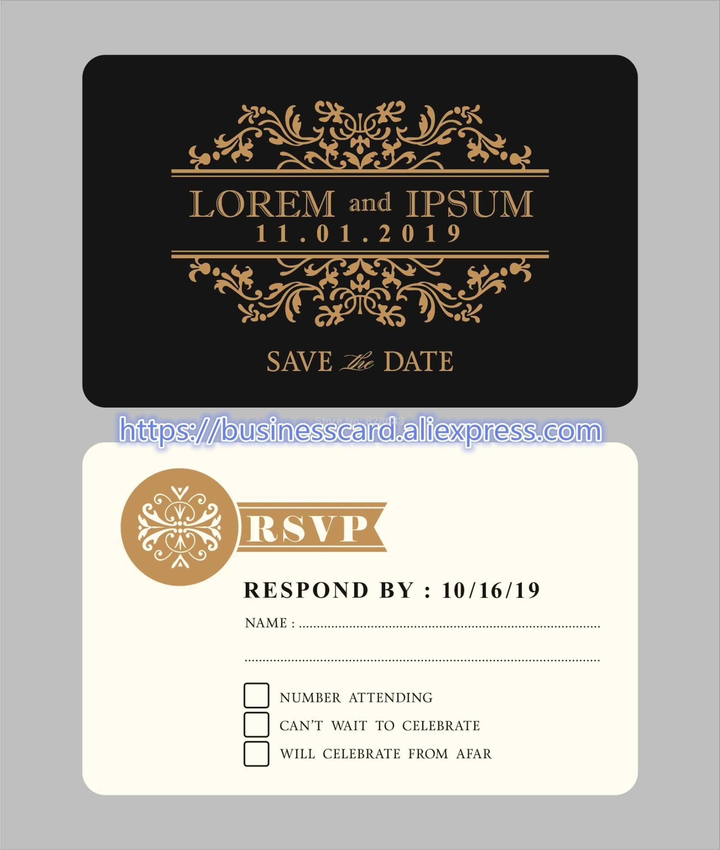 Wedding Invitation Cards With Custom Design Matte White