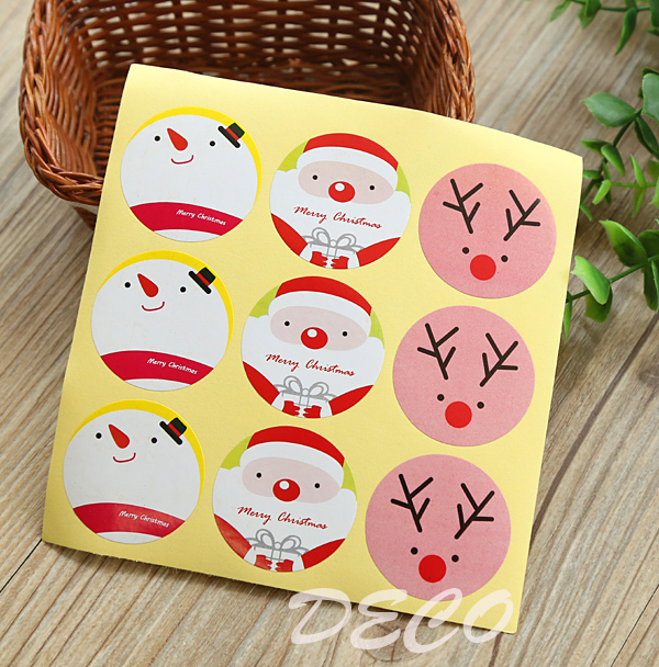 100pcs/lot Kawaii Christmas series seal stickers MERRY CHRISTMAS sticker for gift packaging(ss-a821) цена
