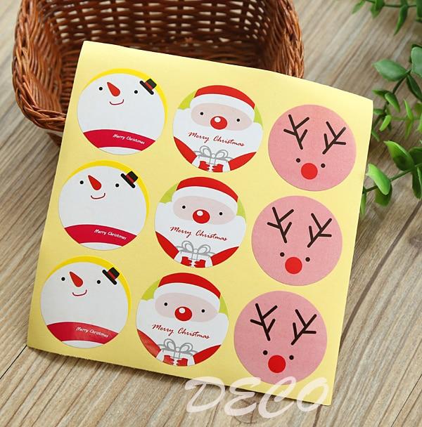 100pcs/lot Kawaii Christmas Series Seal Stickers