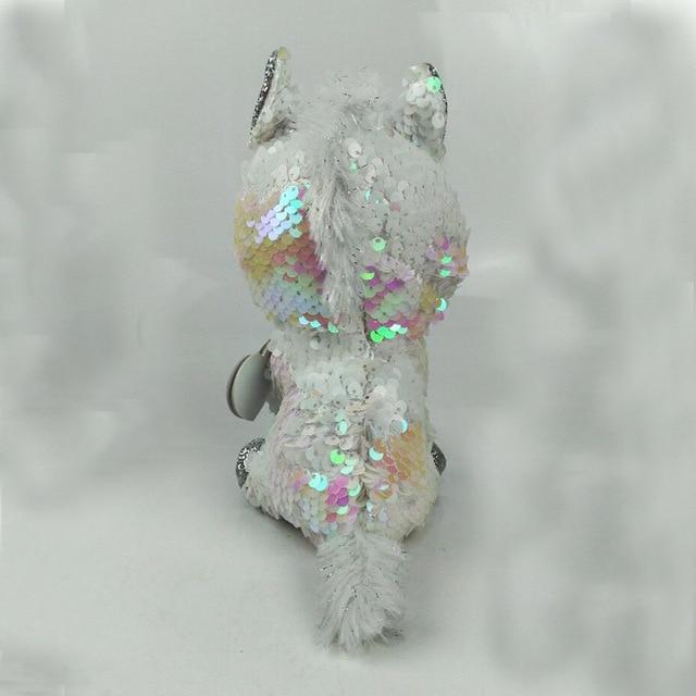 TY Beanie Boos 15cm white sequin Unicorn Dog Owl Danger Alpaca ... 8389bd21eec4