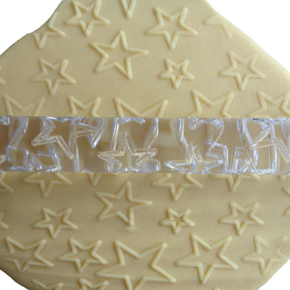 Transparent  Stars shape decorative rolling pins,embossing rolling pin,cake decor tools rolling fondant fondant roller free ship