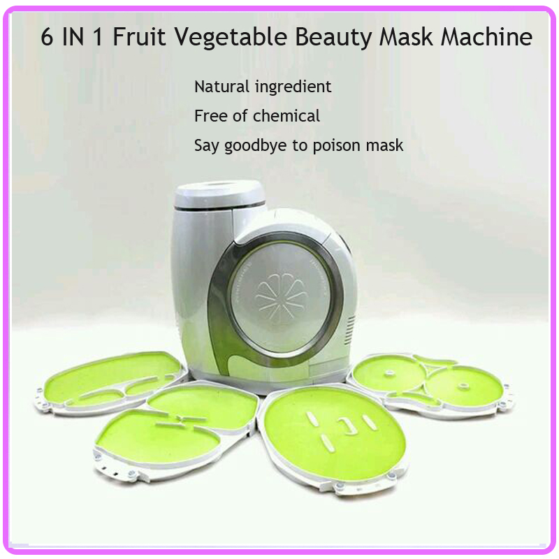 6 IN 1 Anti Aging Moisturizing Whitening Acne Treatment Beauty Skin Care Electronic Collagen Vegetable Fruit Mask Maker Machine skin care laikou collagen emulsion whitening oil control shrink pores moisturizing anti wrinkle beauty face care lotion cream