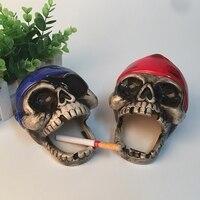 WSHYUFEI Ceramic Ashtray Lovely Cartoon Skeleton Home Funny Gift Send A Boyfriend Gift Creative Personality Trend