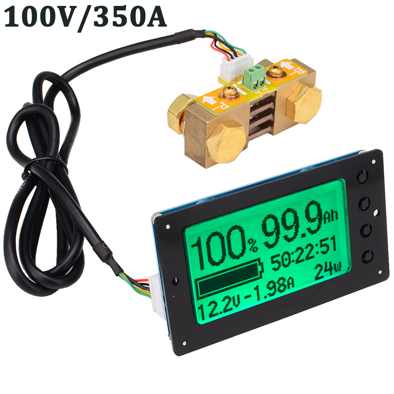100V 350A Lead-acid Lithium Battery Capacity Tester Voltage Current Display Coulometer Coulomb Counter Free Shipping 12003155100V 350A Lead-acid Lithium Battery Capacity Tester Voltage Current Display Coulometer Coulomb Counter Free Shipping 12003155