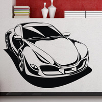 DCTOP Sport Racing Car Automóvil Extraíble Tatuajes de Pared de Vinilo Pegatinas Home Decor Pared Pegatinas Nursery