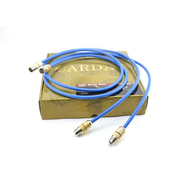 Câble d'interconnexion de lumière claire HiFi Cardas connecteur XLR à XLR pour amplificateur de Tube