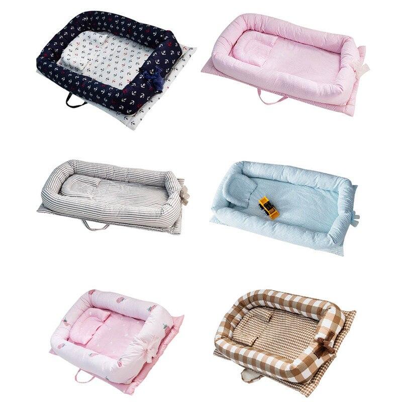Baby Bassinet for Bed Portable Baby/Infant/Newborn/Toddler Travel Bed Crib Breathable Hypoallergenic Sleep Nest Lounger Pillow 80 50cm baby nest bed portable crib travel bed infant toddler cotton cradle for newborn baby bassinet bumper