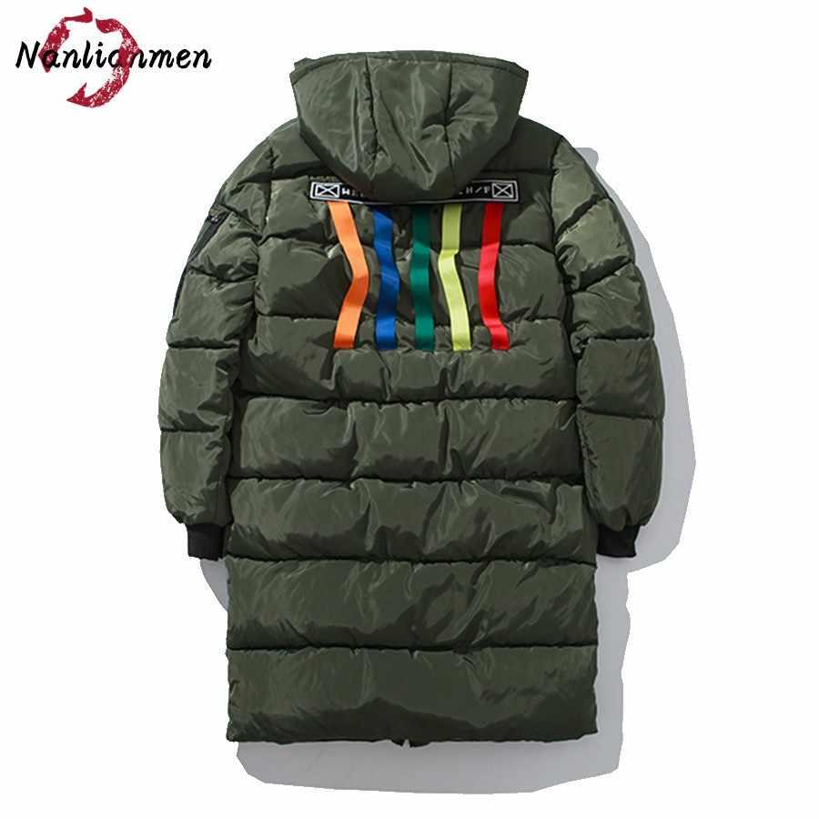 Новинка 2017 года длинная теплая парка с капюшоном Для мужчин зимняя куртка Doudoune