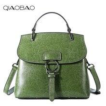QIAOBAO 100% Echtem Leder Tasche Große Frauen Leder Handtaschen Berühmte Marke Frauen Messenger Bags Big Damen Umhängetasche Bolsos