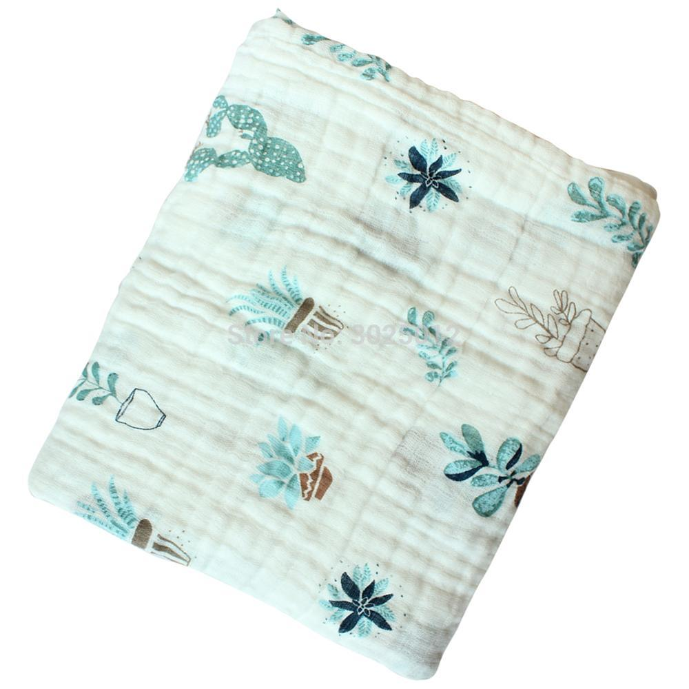 Cotton Muslin Swaddle Blankets Breathable Baby Blankets For Nursery Multi Use Baby Blanket Swaddling Wrap For Baby 110*110cm