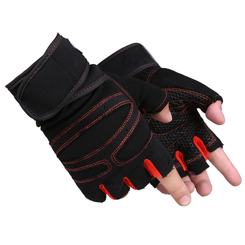 Men Women Gym Gloves WeightLifting Half Finger gloves Boxing fitness riding Sports Tactical Gloves weightlifting With Wrist Wrap