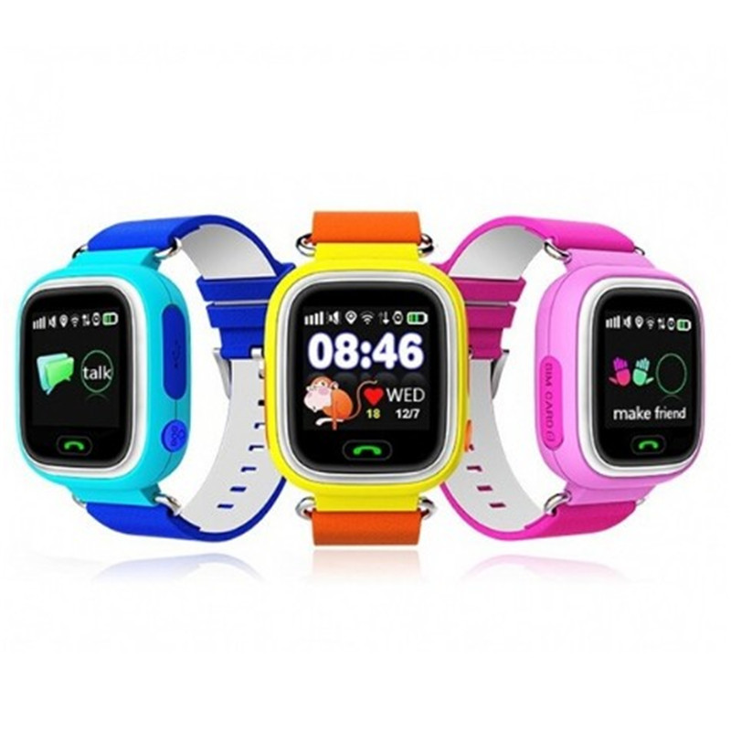 Enfant GPS Montre Smart Watch Q90 Avec Wifi Écran Tactile Enfants Smartwatch SOS Call Lieu Pour Kid Safe Anti-Perdu Moniteur PK Q50 Q80