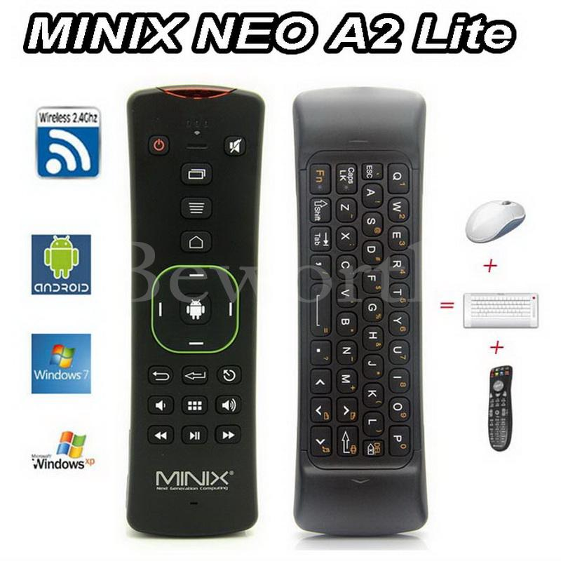 цена на MINIX NEO A2 Lite 2.4GHz Wireless Keyboard Gaming Fly Air Mouse 6-axis Gyroscope Smart Remote Control for X92 Android TV Box PC