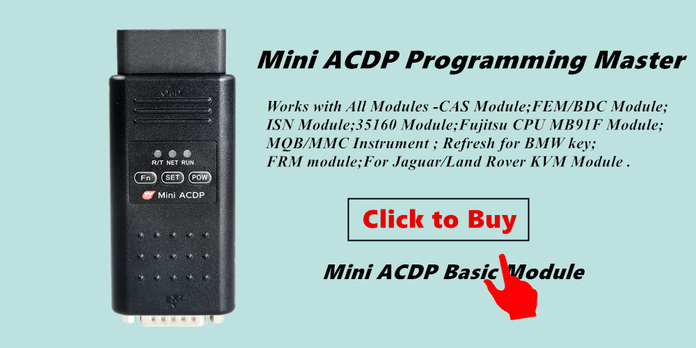 Yanhua Mini ACDP with 11 full modules Programming Master