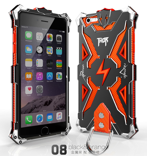buy popular c1fed f9101 US $18.56 36% OFF Zimon 6Plus Brand Thor Luxury Heavy Duty Armor Metal  Aluminum Cases For Apple iPhone 6 plus Phone Back Cover For iphone 6S  Plus-in ...