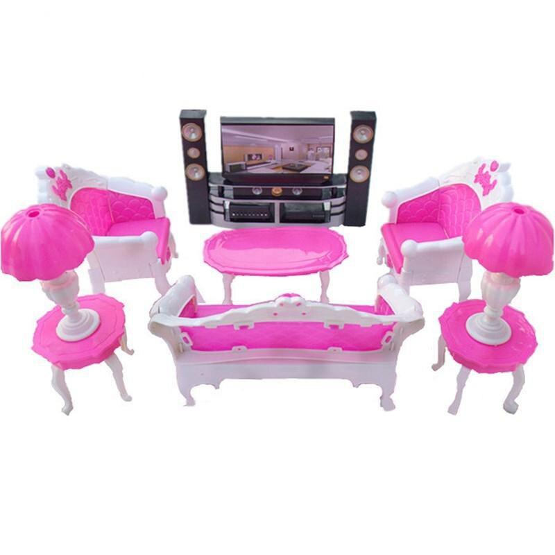LeadingStar Puppe Zubehör Pretend Spielen Möbel Set Spielzeug für Kinder Weihnachten Geschenke Wohnzimmer schlafzimmer für Puppen Haus Dekoration