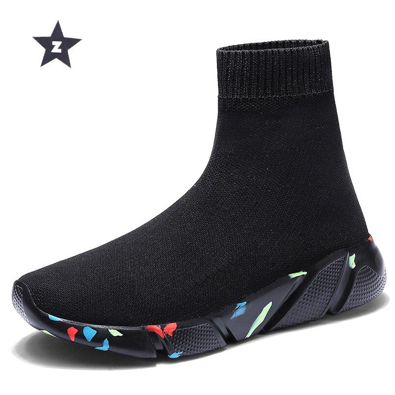 Z girls sneakers informal socks wedge platform sneakers vogue elasticity camouflage breathable strolling sport sneakers girl sneakers Ankle Boots, Low cost Ankle Boots, Z girls sneakers informal socks wedge...