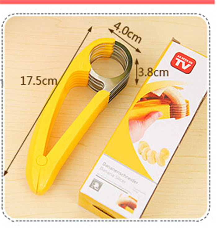 Aliexpress Com Buy 2015 New Design Kitchen Utensils High Quality Blades The Banana Slicer Cut Banana Artifact Fruit Knife Free Shipping From Reliable