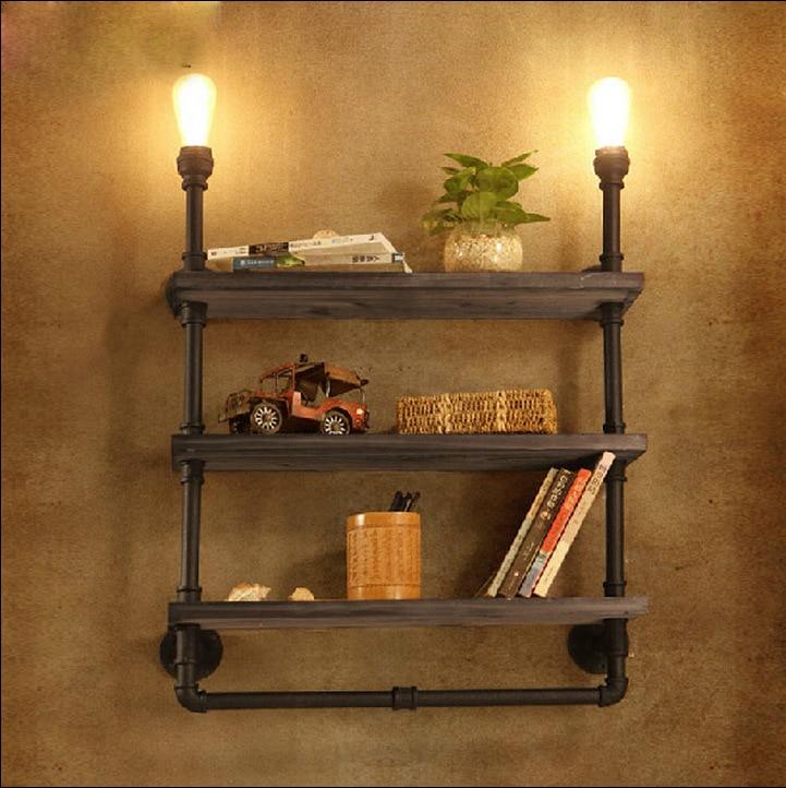 Bookshelf Wall Lamps Vintage Industry Loft RH Creative Retro Water ...