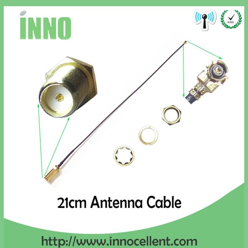 10 pieces lot Extensão Cabo Conector de Antena WiFi Pigtail Cabo IPX UFL para SMA RP para RP-SMA fêmea para IPX 21 cm