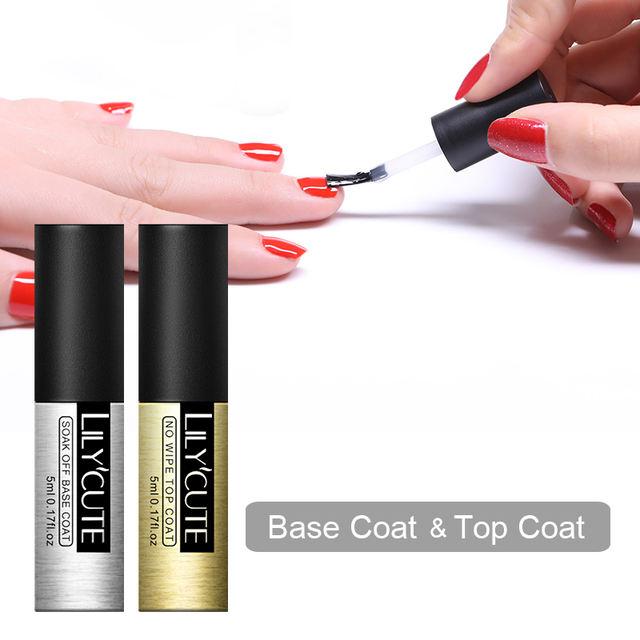LILYCUTE Base and Top Coat UV Gel