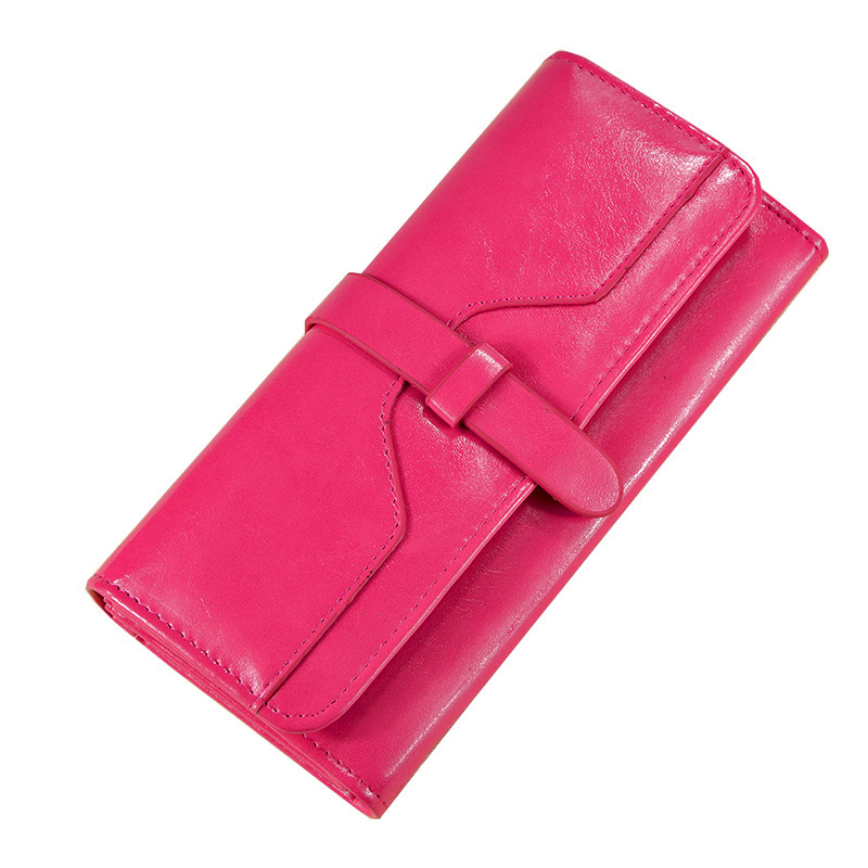 High Quality Women PU Leather Wallet Long Leather Clutch Purse Female TrIfold Coin Purse Wallet in Wallets from Luggage Bags