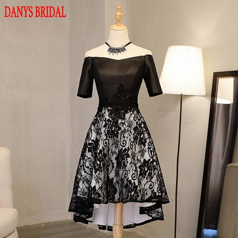 Black High Low Prom Dresses Sexy Hi Lo 8th Grade Women