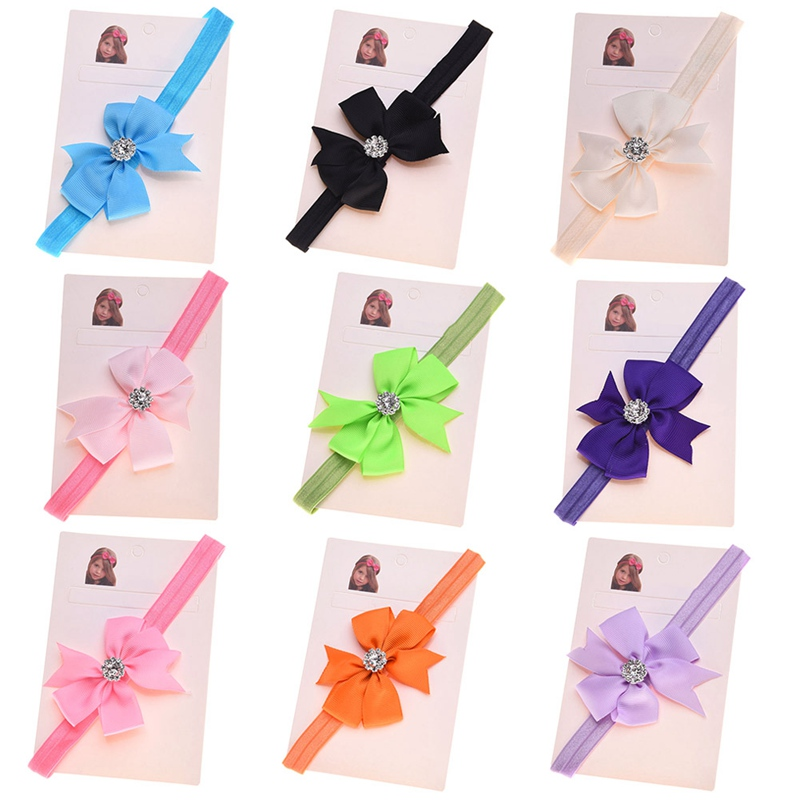 Baby Girl Headband Cute Bow Tie Princess Hair Accessories Hairband Children Birthday Christmas Gift Kid Infant Hair Ribbon 30 pcs lot ribbon bow hairband for baby girls handmade hairband children hair bow hairband cnhb 14022017