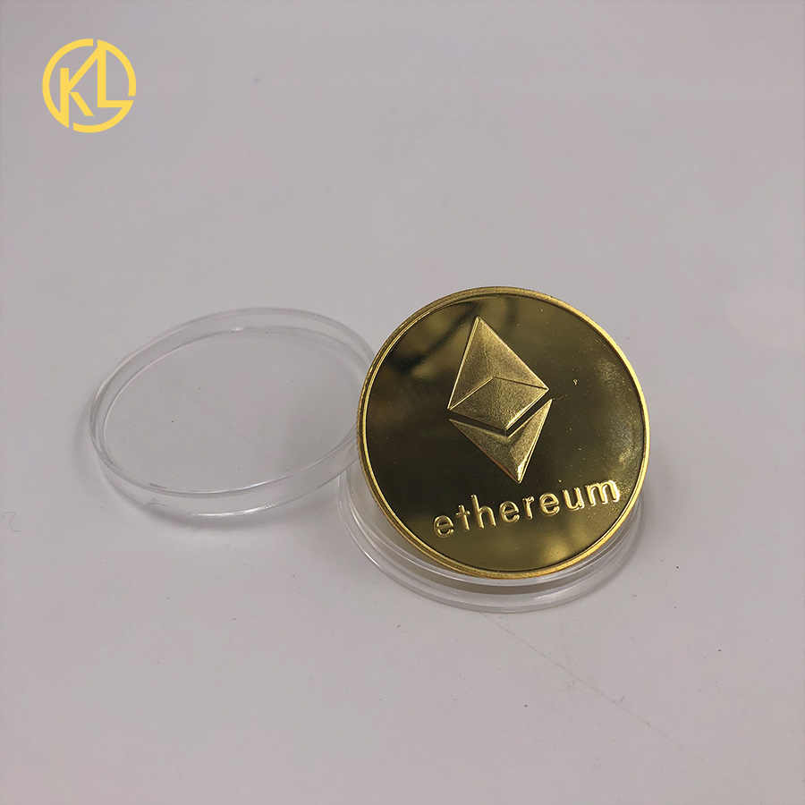 CO011 посеребренный эфириум сувенир Биткойн Великолепная памятная Коллекционная физическая монета программист любитель