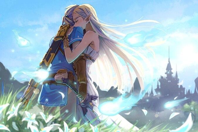 Pittura del Fumetto di diamante The Legend Of Zelda Respiro Della Natura Selvaggia Arte della parete Immagine Arte Pittura Stampa Su Tela Decorazione Della Parete di Casa