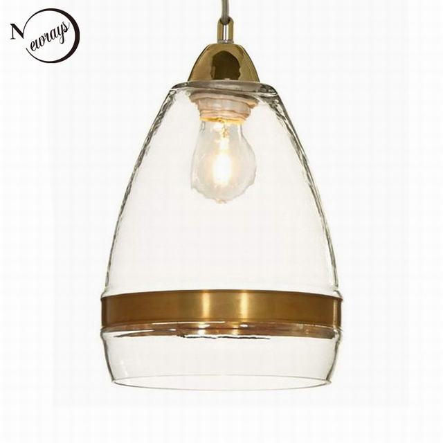 Clear Antique Gold Glass Pendant Lamp For Kitchen Lights Cabinet - Antique kitchen light fixtures