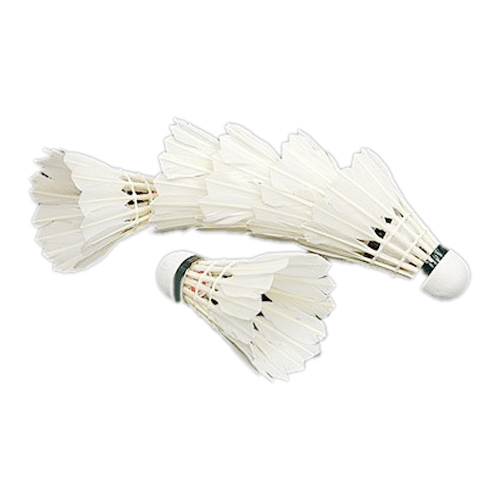 Super sell  6PCS White Feather Shuttlecocks Badminton