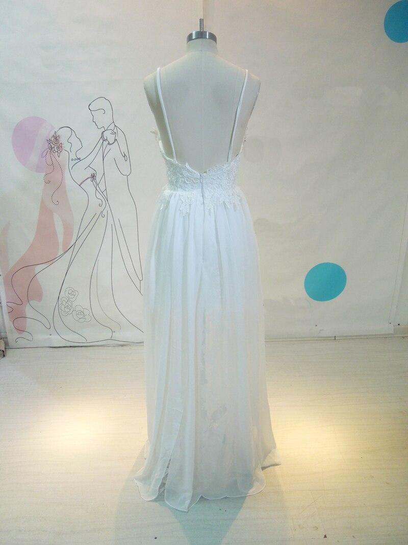 Asymmetrical Chiffon Beach Wedding Dresses