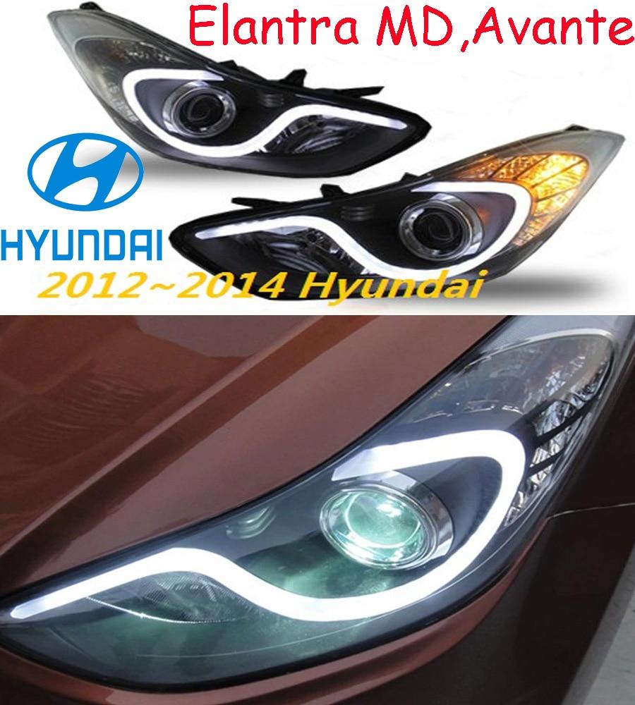 car-styling,Elantra headlight,MD,Avante,2012~2015,Free ship!Elantra fog,LED,2ps+2pcs Aozoom Ballast,Elantra head light,Veracrus hyundai avante md напрямую из кореи