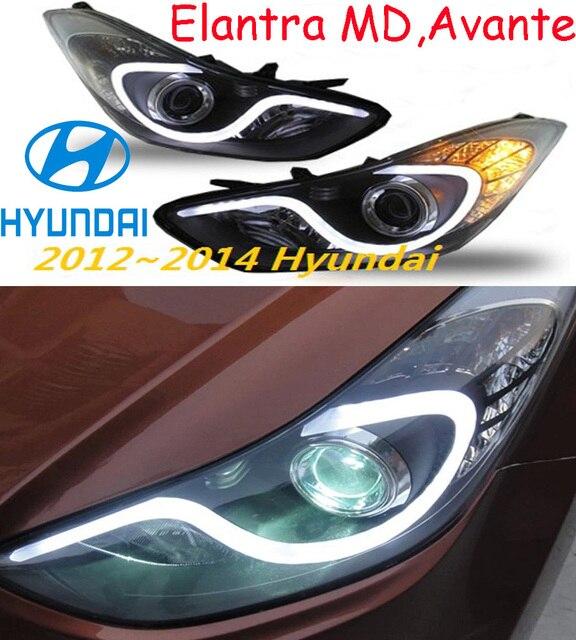 car-styling,Elantra headlight,MD,Avante,2012~2015,Free ship!Elantra fog,LED,2ps+2pcs Aozoom Ballast,Elantra head light,Veracrus