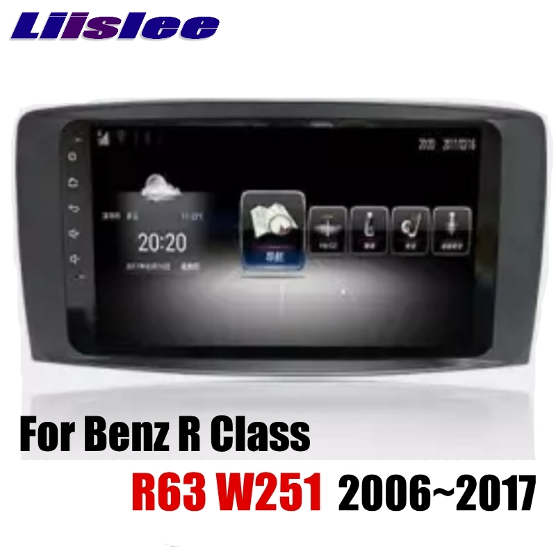 Liislee Car Multimedia Player NAVI For Mercedes Benz MB R Class R63 W251 R280 R300 R320 2006~2017 Radio Stereo GPS Navigation