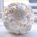 Ivory White Bridal Wedding Bouquet de mariage Pearls Bridesmaid Artificial Wedding Bouquets Flower Crystal buque de noiva 2017