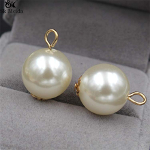 50pcs DIY Handmade Jewelry Accessories Pearl Ball Bead Stud