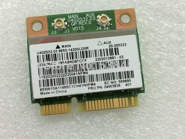 For Broadcom BCM943142HM Half Mini PCI-E Wifi Bluetooth 4.0 Wireless Card For Lenovo G400 G410 G500 G510 G405 G505 E431 04W3836