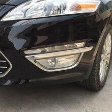 Бесплатная доставка Высокое качество ABS Chrome передние противотуманные лампы cover Накладка противотуманный свет для фары Накладка для Ford Mondeo MK4