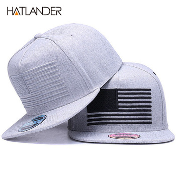 [HATLANDER] Raised flag embroidery cool flat bill baseball cap mens gorras snapbacks 3D flag hat ourdoor hip hop snapback caps фото