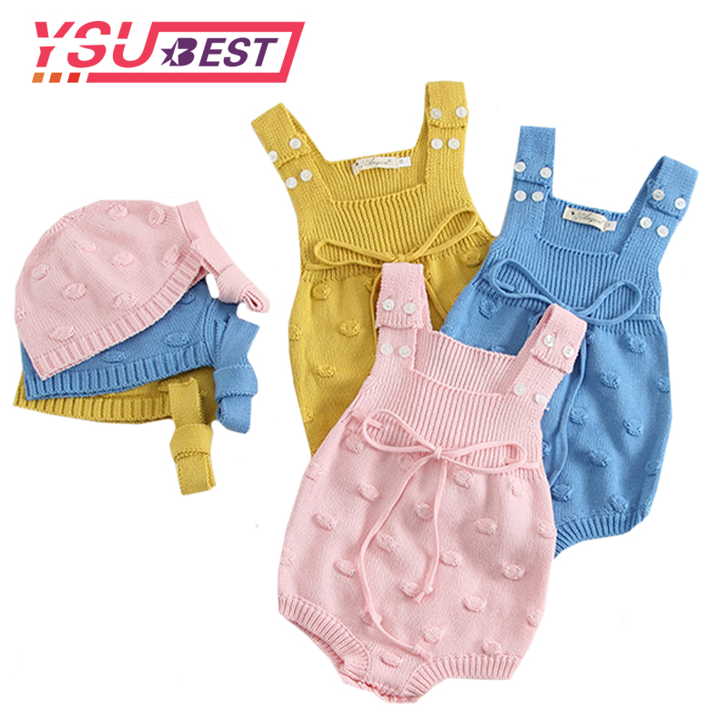 2020 Baby Bodysuit Infant Jumpsuit Overall Sleeveless Baby Boys Clothing Spring New Knitted Girls Bodysuits Baby Casual Clothes
