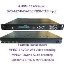 4 носителя 1080P мульти HDMI к DVB-C/DVB-T/ATSC/ISDB-T кодировщик модулятор цифровой ТВ головной QAM RF модулятор VEK-4782I-4/8