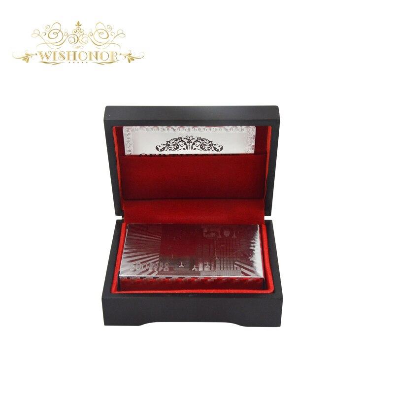 Regalos de empresa para Euro 500 Design Silver Foil Poker, naipe de - Para fiestas y celebraciones - foto 3
